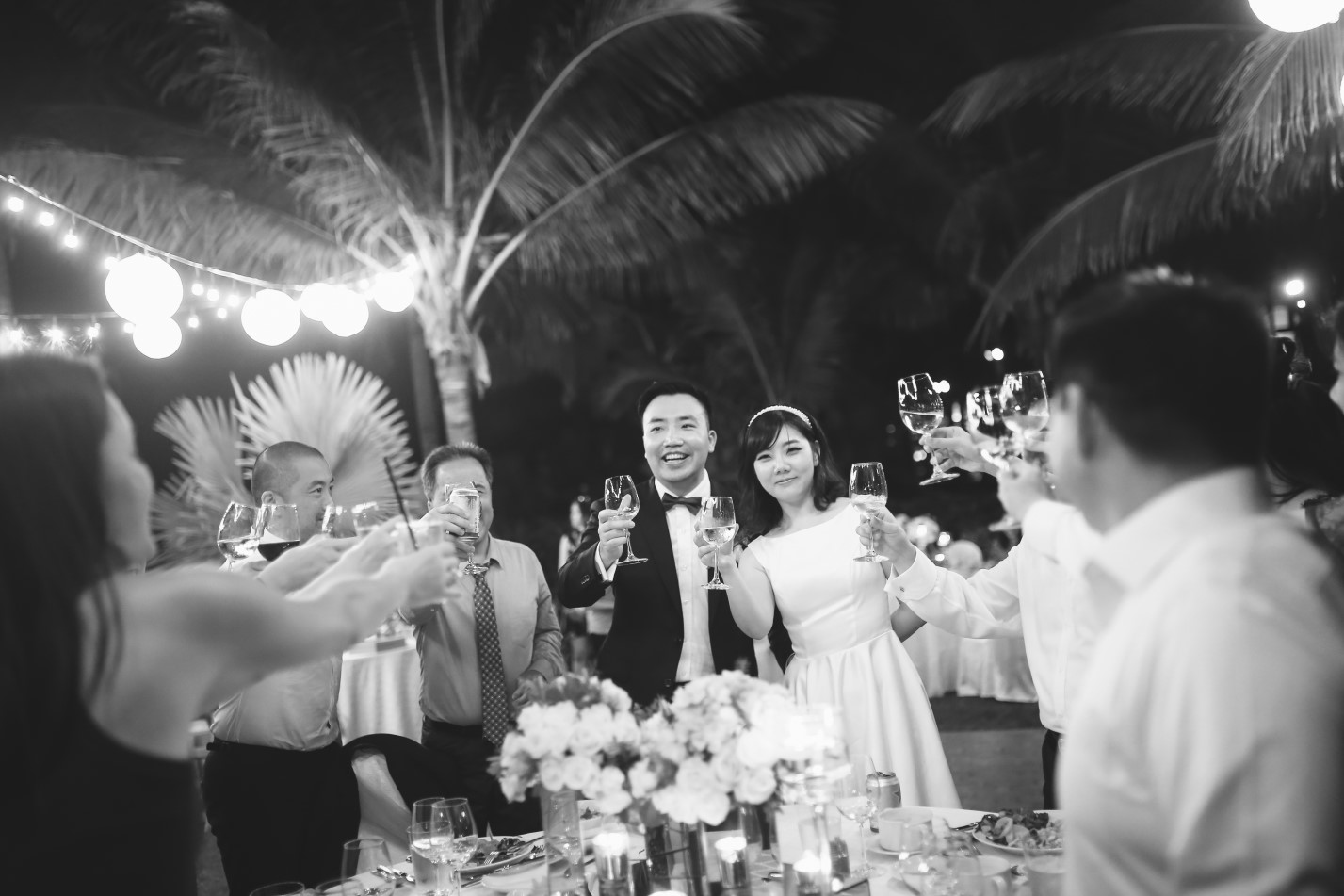 The wedding ceremony was held at InterContinental Danang Sun Peninsula Resort